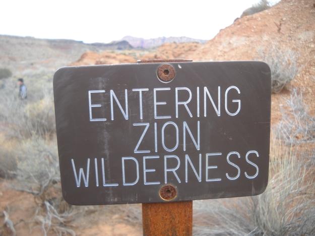 Entering Zion Wilderness, Coalpits Wash
