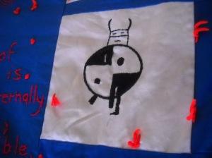quilt detail: Hopi figure
