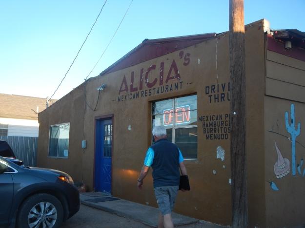 Heading into Alicia's