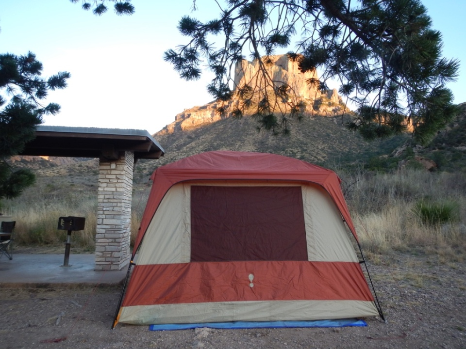 our tent, Chisos Basin Campground