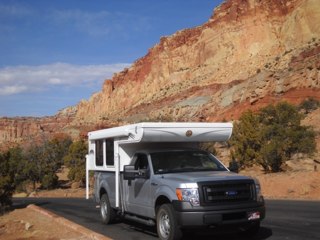 our camper in Capitol Reef National Park