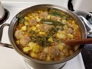 sopa de albondigas (Mexican Meatball Soup)